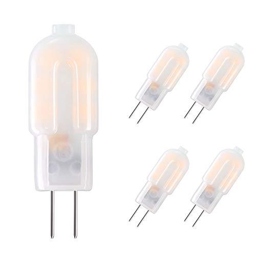 Vicloon G4 LED Bombillas, 2W Capsule LED Equivalente a 20W Bombillas Halógenas,Blanco cálido DC/AC 12V 3000K 130lm,No Regulable - Pack de 5