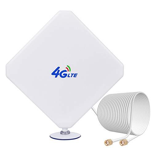 4G SMA Antenne High Gain Signalverstärker 35dBi 3G / 4G LTE 4G Netzwerkantenne mit SMA Anschluss für Modem Router USB AirCard Huawei Mobile Huawei E398 B525 E5175 B310
