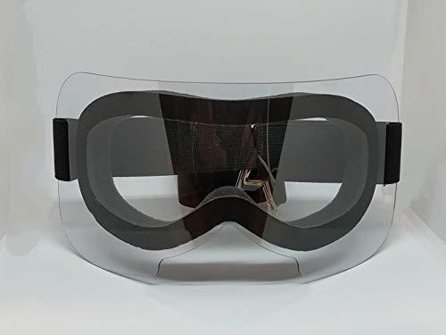 Safe Vision Mask - Máscara de protección para los ojos, transparente, protección UV, polvo, arena, lentes antivaho, ergonomía y comodidad, fabricada en Italia