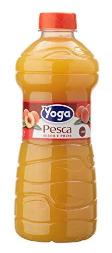 12x Yoga Fruchtsaft fruit juice Pet flasche Pesca Pfirsiche saft 1Lt