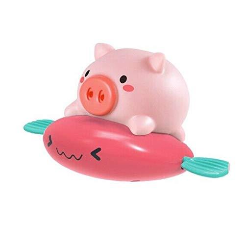 LYDQ ath juguete, bebé niños cerdo paseo pescado cuerda reloj rociado agua baño baño natación juguete bañera