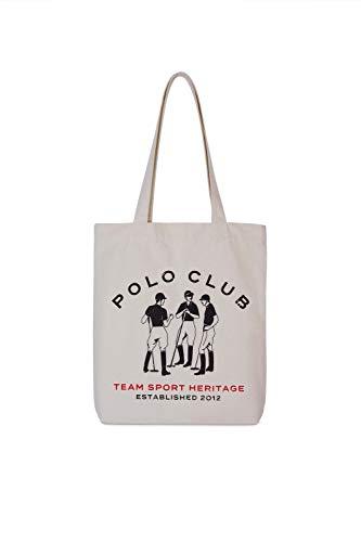 POLO CLUB Bolsa de Tela: Shopping Bag Color Crudo