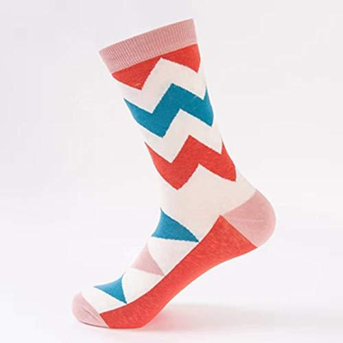 SIHIELOA 3 Paar Socken Gezeiten Socken Tischtennis Serie Paare Rohr Baumwolle Socken lässig Wilde Socken Frauen Code Wellenmuster