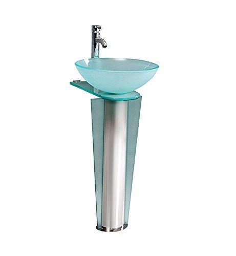Fresca Vitale 17 inch Modern Glass Bathroom Pedestal