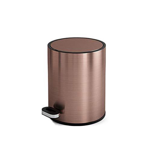 FZWAI Vuilnisbak Pedaal Keuken prullenbak Badkamer Bakken met deksel Household woonkamer keuken vuilnisbak (Color : #4, Size : 10L)