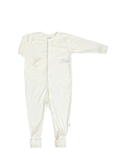 Joha Baby Overall, Wolle Natur (56, Weiß)