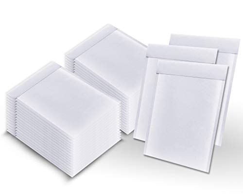 Pack of 250 White Kraft Bubble mailers 6x9 Padded envelopes 6 x 9 by Amiff. Kraft Paper Cushion envelopes. Exterior Size 7x9.5 (7 x 9 1/2). Peel and Seal. Mailing, Shipping, Packing.
