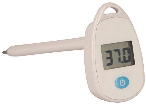 Kerbl 2138 Fieberthermometer Großtiere, Digital Schnell Wasserdicht, Sonde 14 cm