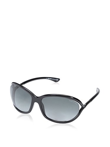 Tom Ford Für Mann 0008 Jennifer Shiny Black / Grey Gradient Kunststoffgestell Sonnenbrillen