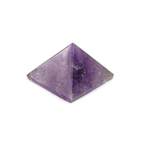 Reiki Crystal Products Natural Crystal Stone Amethyst Pyramid for Reiki Healing/Grid and Aura Cleaning, Vastu Correction and Crystal Healing Stones 10-15 mm Approx (Amethyst)