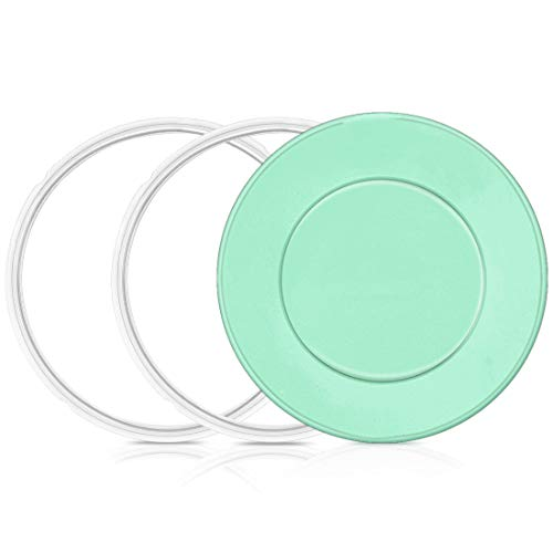 Silicone Sealing Rings and Silicone Lid Cover for Instant Pot 6 Qt, Replacement Silicone Leak Proof Sealing Rings and Silicone Lid for 5 & 6 Quart Instant Pot ASccessories(2 Rings, 1 Lid)