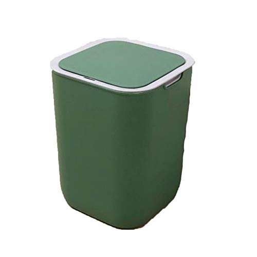 Cubo de Basura con Sensor, Inteligente sin Necesidad de Contacto, automático, 10L, Sensor de Amplia Apertura, para Cocina,Dormitorio, Baño Y Oficina,Verde