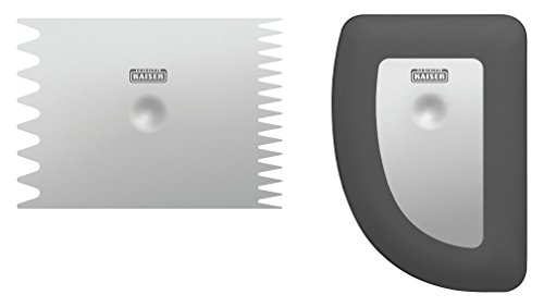 Kaiser La Forme Plus Teigspachtel Set 2-teilig, Teigkarte, Teigspachtel, Kuchengarnierer, 3 attraktive Strukturformen, ergonomisches Design