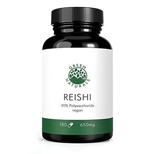 Estratto di Reishi 40% (180 capsule da 650mg) - Produzione tedesca - 100% vegano e senza additivi