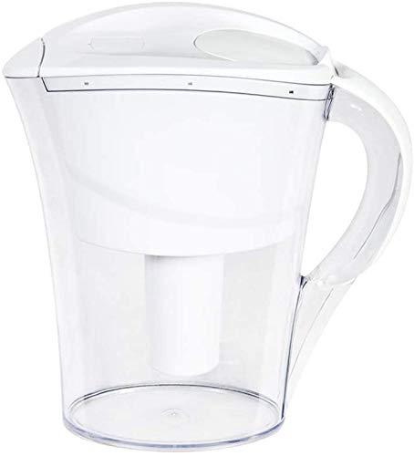 Cfbcc Filter Kessel Wasserfilteranlage, Küche Haushalt 2 Liter Wasser-Filter alkalisches Wasser Pitcher zur Verringerung der Kalk und Chlor, Blau (Color : White)