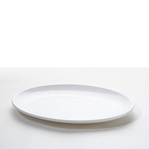 assiette ,plaque d'accentuation,assiette d'apéritif, assiette à dessert , assiette de salade ,disque ovale blanc-C