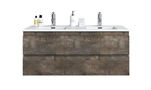 Badplaats B.V. Muebles de baño Angela 120cm Stone Ash- Armario de Base Lavabo Bano