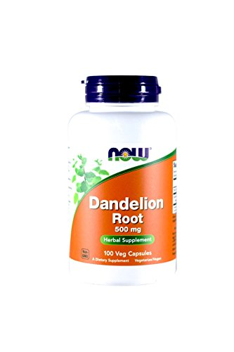 NOW Dandelion Root 500mg, 100 Capsules (Pack of 3)