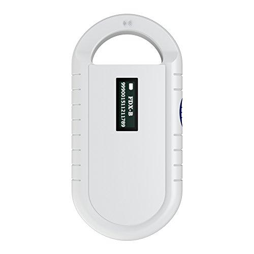 Escáner de Microchips, Lector de Microchips de Mano portátil Lector de Chips de Animales para Mascotas Lector RFID Universal para ISO 11784/11785, FDX-B e ID64 RFID