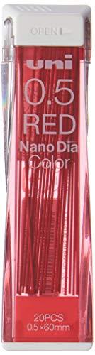 Uni Mechanical Pencil Lead NanoDia Color Red 0.5mm 20leads