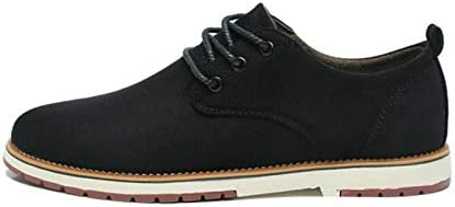 Jiangym Sports Accessories Suede Leather Men Shoes Oxford Casual Classic Sneakers for Male Footwear, Size:44(Black) Sports Accessories (Color : Black, Size : 41)