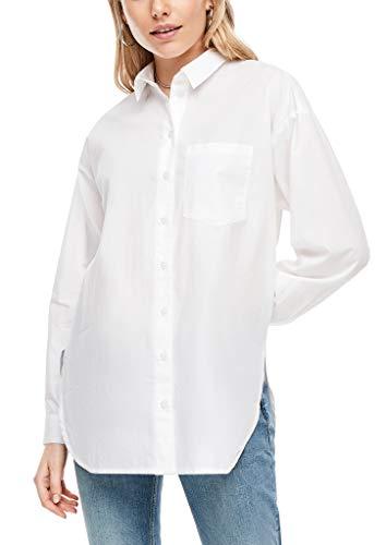 Q/S designed by - s.Oliver Damen Hemdbluse im Boyfriend-Style White 36