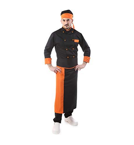 Completo Cuoco - Vari Colori - Divisa Chef - per Uomo e Donna - 4 PZ - Giacca Pantalone Davantino Bandana - Ricamo Gratuito - per Cucina e Ristorante Made in Italy (XL)