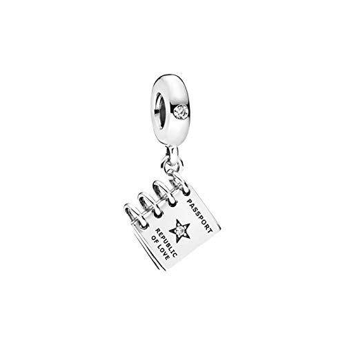 DIY Plata De Ley 925 Biy Tendy Pasaporte De Amor Cumpleaños En Forma Original Pandora Pulseras Collar para Mujeres Cuentas De Dijes Fabricación De Joyas
