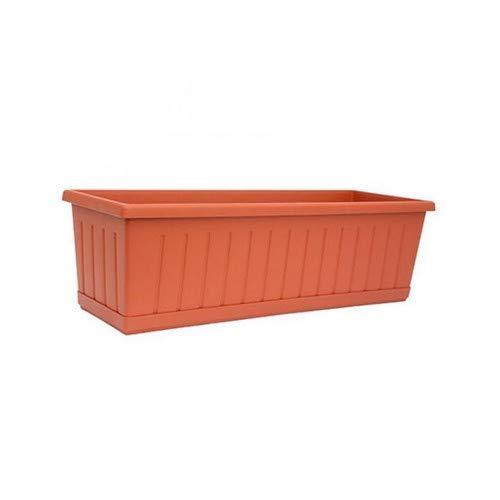 SATURNIA 8096605 8096605-Jardinera de balcón, 40 x 17 x 15 cm, Marrón, 22x12x9 cm