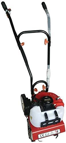 52CC 2-Takt Benzin Gartenfräse Motorhacke Mini Pflüger Grubber, Einzylinder Benzin Gartenhacke Bodenhacke Kultivator Motorhacken zum Kultivierung, Garten