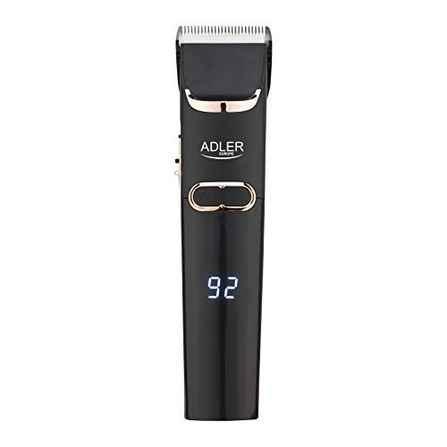 ADLER AD 2832 - Cortapelos con 4 cabezales, cuchilla de cerámica, maquinilla de afeitar para hombre, barba, funcionamiento con batería y red, cortapelos para barba, tijeras de pelo