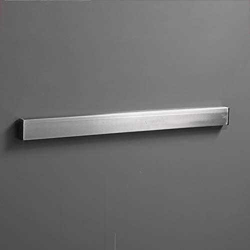 Tira magnética de montaje en pared para portacuchillos,montaje en poste de imán plateado de acero inoxidable,que se utiliza para ahorrar espacio para guardar cuchillos de cocina,vajilla y tijeras