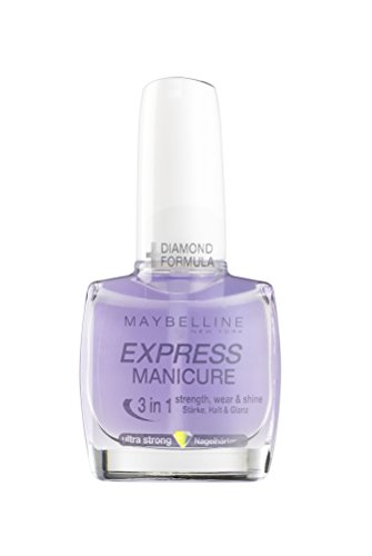 Maybelline New York Nagellack, Transparenter Unterlack und Überlack, Express Manicure 3 in 1 Nagelhärter, 10 ml