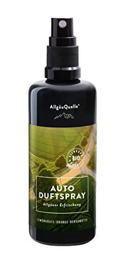 AllgäuQuelle - Der frische Bio Autoduft als Auto-Erfrischer. Autodüfte in Lemongrass & Orange. Auto-Duft im Auto-Zubehör als Autoerfrischer.