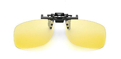 Embryform Retro Polarisierter Clip auf Flip up Plastik Sonnenbrillen Fahren Angeln Reisen