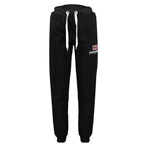 GEO NORWAY MAX Men – Pantalones de Deporte para Hombre – Chándal Deportivo – Pantalones de Entrenamiento – Pantalones Cargo Informales – Chándal de algodón poliéster (Negro, XXL)