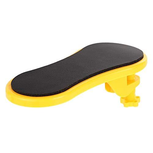 QWLHZW Pad Schreibtisch Steckbare Computer Table Armauflage Mouse-Pads Arm Handgelenk Rests Stuhl Extender for Tisch-Handschulter schützen Armlehne (Color : Yellow)