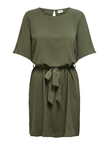 JACQUELINE de YONG Damen Jdyamanda 2/4 Belt Dress Wvn Noos Kleid, Kalamata, 36 EU