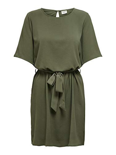JACQUELINE de YONG Damen Jdyamanda 2/4 Belt Dress Wvn Noos Kleid, Kalamata, 42 EU