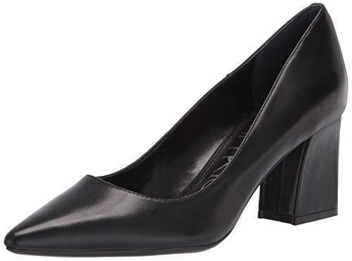 Calvin Klein Women's Lila Pump, Black Leather, 7