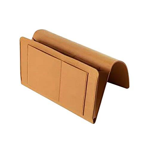 nimabi Fieltro trastero Almacenamiento Organizador Antideslizante Bolsa de Cama lecho sofá Lado Bolsa Colgando sofá Almacenamiento Soporte Bolsillos (Color : Brown 320x200x100mm)