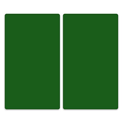 decorwelt Couvercle en Verre pour plaques vitrocéramiques, plaques de Cuisson pour plaques à Induction, Plaque en Verre de sécurité, Protection Contre Les Projections Vert, 2x30x52 cm