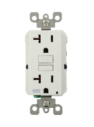 Leviton GFWR2-W Self-Test SmartlockPro Slim GFCI Weather-Resistant Receptacle with LED Indicator, 20 Amp, White