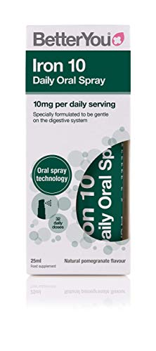 BetterYou Iron 10 Daily Oral Spray - 25ml (Pack of 2)