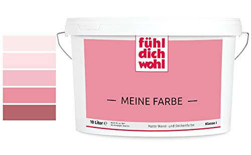 Fühl Dich Wohl Meine Farbe rosa, matte Wandfarbe rosa, hohe Deckkraft, verschiedene Rosafarbtöne zur Auswahl (5L, Altrosa E1-44)