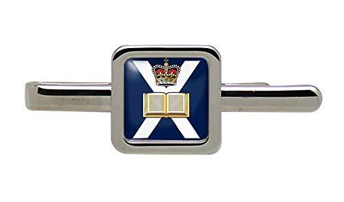 Giftshop UK Edimburgo Universidad OTC, Ejército Británico Cuadrado Corbata Broche