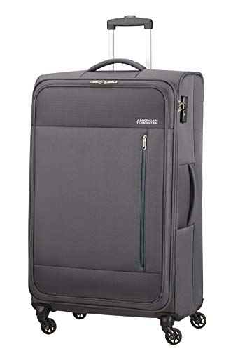 American Tourister Heat Wave Valigia Spinner XL (80 cm - 92 L), Grigio (Charcoal Grey)