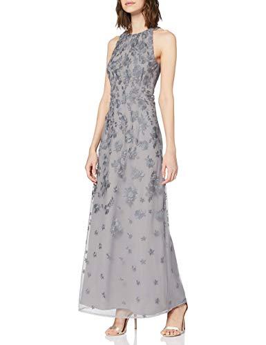 ESPRIT Collection Damen 020EO1E320 Kleid für besondere Anlässe, Grau (Grau 030), 34