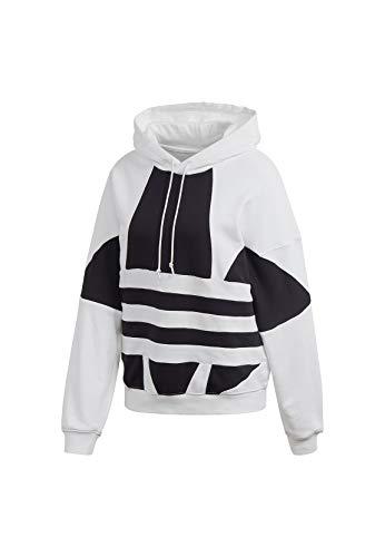 Adidas Damen Sweatshirt LRG LOGO HOODIE, weiß (white/Black), 36