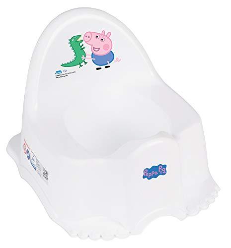 Tega Baby ® Kinder-Töpfchen 6 Modele und Verschiedene Sets Töpfchen + Toilettensitz + Tritthocker Peppa Pig Wutz | rutschfest und besonders sicher, SET:Allein, Farbe:ECO Peppa - blau